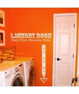 """Drop Your Drawers Laundry Room Vinyl Wall Quote Sticker Decal 22""""w x 52""""h - $45.00"""
