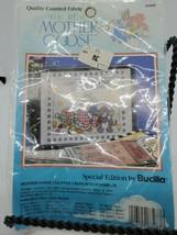 Bucilla Mother Goose Birth Announcement Counted CrossStitchSampler Fabri... - $16.55