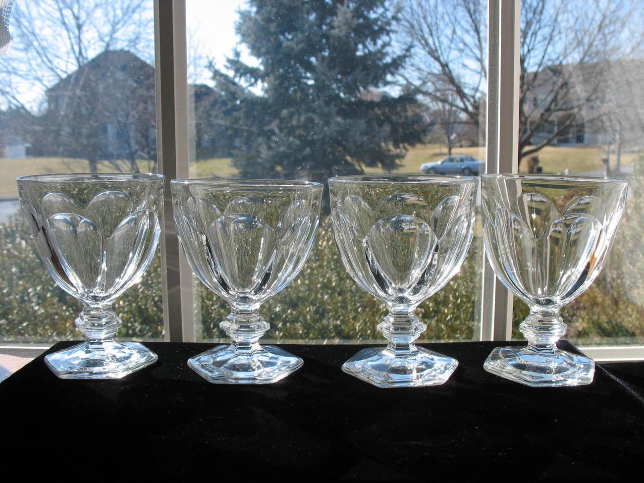 Heisey Antique Puritan Goblets - Set of 4
