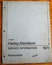 1971 Harley-Davidson Snowmobile Service Information Manual, Original - $21.88