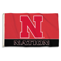 Nebraska Huskers Nation 3'x5' Flag with Grommets  - $35.95