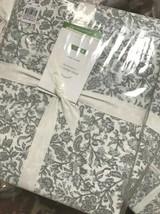 Pottery Barn Aliya Sheet Set Cool Gray King Floral Cottage Chic Farmhous... - $129.00