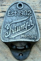 Triumph Motors  Cast Iron Wall Mounted Beer Bar Bottle Opener (High Qual... - $9.15