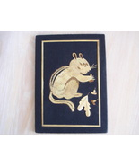 Vintage Tapestry Mirpur Golden Wheat Thread Straw Art Squirrel Picture - $9.99