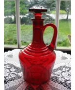 Elegant Vintage Ruby Handled Decanter - $45.00