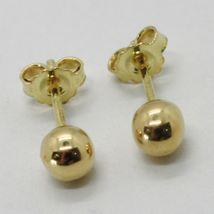 Gelbgold Ohrringe 750 18K, Kugel, Poller, Kugeln, Verschluß Schmetterling image 4
