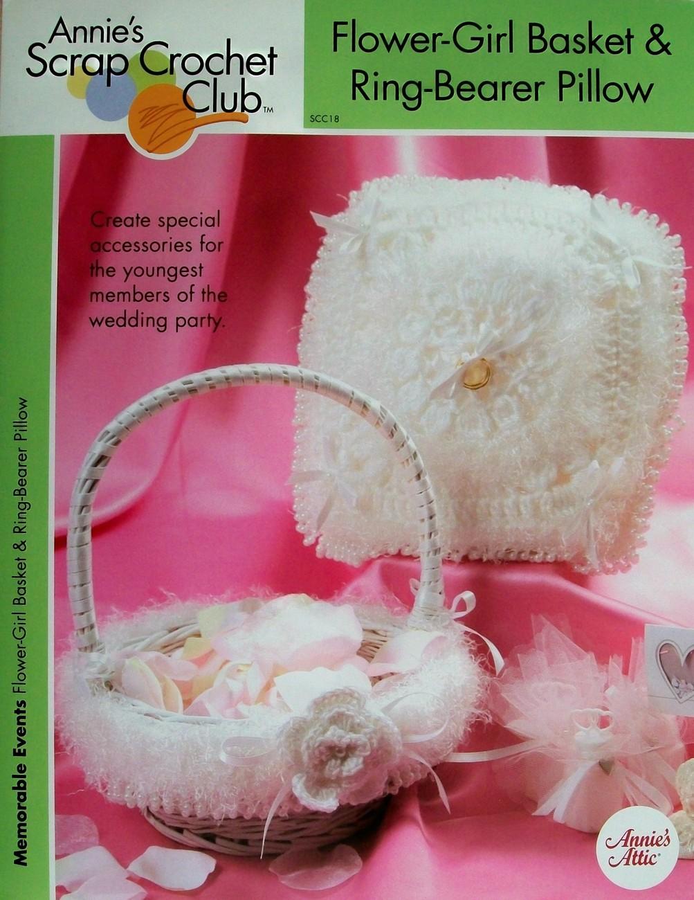 Crochet Flower Girl Basket Pattern : Flower girl basket ring bearer pillow wedding annie s