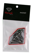 Diamond Supply Co.Schwarz Rot Brilliant Kühlschrank Magnet Nip