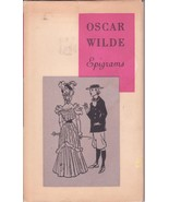 Oscar Wilde Epigrams Book Quotes Hardcover Dustjacket c.1960 - $21.00
