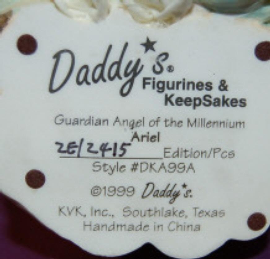 Daddys Figurines Keepsakes Guardian Angel Ariel 2E/2415