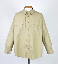 5.11 Tactical Tan Khaki Long Sleeve Button Shirt Mens Cargo Utility Pock... - $24.74