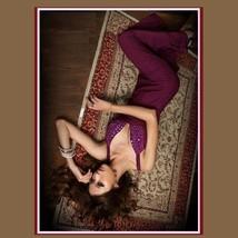Chiffon Taffeta Diamond Beaded Bodice Empire Waist and Open Back Prom Gown image 4