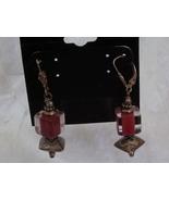 Vintage Sterling Silver Drop Earrings Chinese Lantern - $14.95