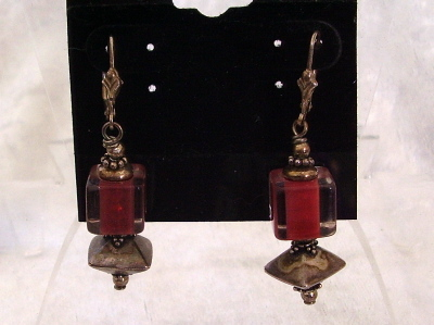 Vintage Sterling Silver Drop Earrings Chinese Lantern