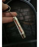 Key Ring Laser Pointer keychain Flashlight 2 in 1 USB Pen Cat UV Dual Fu... - $8.90