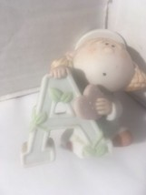 """Vintage BUMPKINS GIRL LETTER """"A""""  Figurine 1984 by George Good Fabrizio - $6.53"""