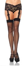 1934 (o/s) Sheer Stocking With Attached Lace Garter Panty [Apparel] - $15.88