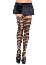 7900 Sheer Pantyhose w Contrast Woven Wrap [Apparel] - $13.88