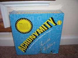 ACRONYMITY Party Board Game Trivia Edition NEW But DAMAGED - CHEAP PRICE! - $9.96