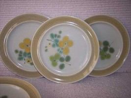 """5  Franciscan Green Olive Bread 8"""" Plates - $20.56"""