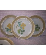 5 Franciscan Green Olive Green Dinner Plates - $27.94