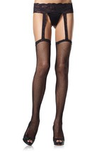LA1656 (90-165lbs) Fishnet/Lace Garterbelt Stockings [Apparel] - $10.88