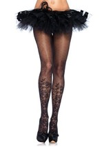 LA7901 Dotted Sheer Pantyhose With Floral Knee [Apparel] - $12.88