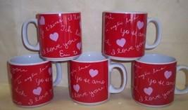 5 RUSS Multi lingual MUGS Love You Tuquiro Liebe Dich Te Aime Amore  NEW - $31.41