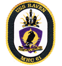 "5"" NAVY USS MHC-61 RAVEN EMBROIDERED PATCH - $16.24"