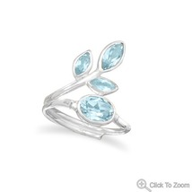 Sterling Silver Ring with Multi-Shape Genuine Blue Topaz - €49,09 EUR