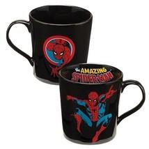 The Amazing Spider-Man Comic Art 12 oz. Black Ceramic Coffee Mug, NEW UN... - $7.85