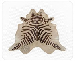 Zebra Print Cowhide Standard Dark Brown on Light Beige - $299.00