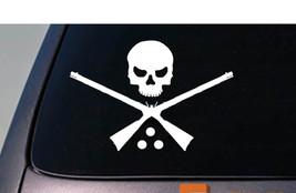 """BLACK POWDER SKULL BONES 6"""" STICKER DEER HUNTING POWDER HORN MUZZLE LOAD... - $3.19"""