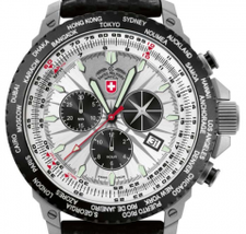 Cx Swiss Military Watch Hurricane Worldtimer 2 Colors - $830.00