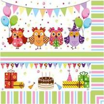 "Paper Luncheon Napkins 20pcs 13""x13"" Kids Party... - $5.00"
