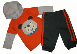 0-3 Months Baby Boys Hooded Top and Pant Set  - $12.00