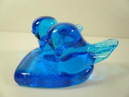 Vintage Happy Little Bluebird Heart Shape Snuggling Love Birds Titan Art... - $16.00