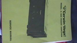 Cerwin Vega A-400 Power Amplifier Service Repair Technical manual - $50.00