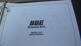 BBE 401 SONIC MAXIMIZER USER INSTRUCTION OPERATING MANUAL - $24.95