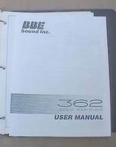 BBE 362 SONIC MAXIMIZER USER INSTRUCTION OPERATING MANUAL - $24.95