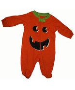 0-3 Months Babys Pumpkin Footed Sleeper   - $9.00