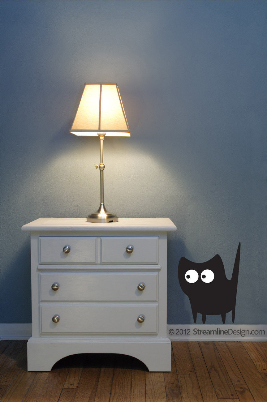 Silly Silhouette Cats Vinyl Wall Art