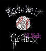 Baseball Grams - C - Iron on Rhinestone Transfer Bling Hot Fix Sports - DIY - $8.99