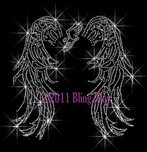 Angel Wings - Track Running Shoe - Iron on Rhinestone Transfer Bling Hot... - $13.99