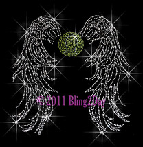 Angel Wings - Tennis - Iron on Rhinestone Transfer Bling Hot Fix Sports ... - $13.99