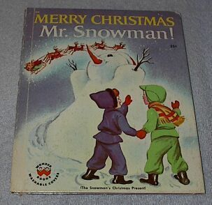 Children's Wonder Book Merry Christmas Mr. Snowman