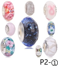 P2_1 Authentic 925 Sterling Silver bead Shine Charms suit pandora bracelets - $6.00