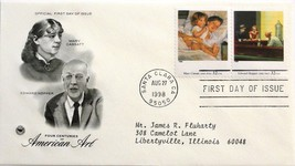 Aug. 27, 1998 First Day of Issue PC Society Covers, Am. Art-Cassatt/Hopp... - $3.14