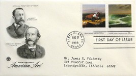 Aug. 27, 1998 First Day of Issue PC Society Covers, Am. Art-Bierstadt/Ch... - $3.14