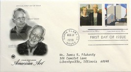 Aug. 27, 1998 First Day of Issue PC Society Covers, Am. Art-Wood/Sheeler... - $1.99